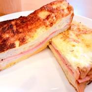 フレンチトースト風ハムチーズパン☆