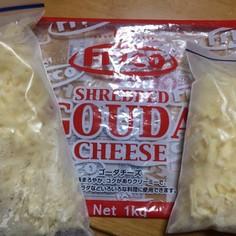 ピザ用チーズをバラバラに冷凍☆