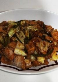 豚肉の黒酢炒め