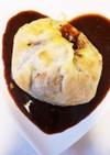牛タンシチューのパイ包みフルーツソース
