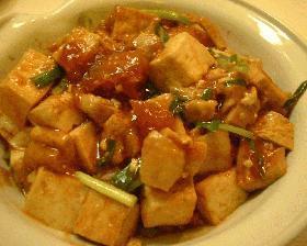 豆腐と鶏肉の韓国風