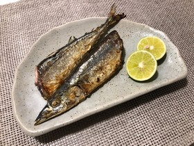 フライパンで簡単!秋刀魚の塩焼き♡