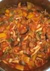 レタスとナスの中東風トマト煮