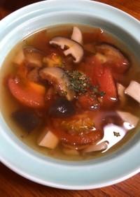 きのことトマトのほっこりスープ