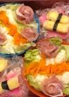 素麺弁当!運動会の弁当練習中