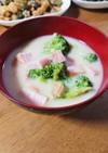 簡単☆豆乳コンソメスープ