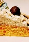 簡単❗節約❗栗のモンブランケーキ♪♪♪