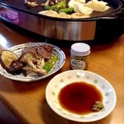 鉄板焼き・麺つゆとゆず胡椒のつけタレの写真