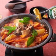 サバ缶トマト鍋の写真
