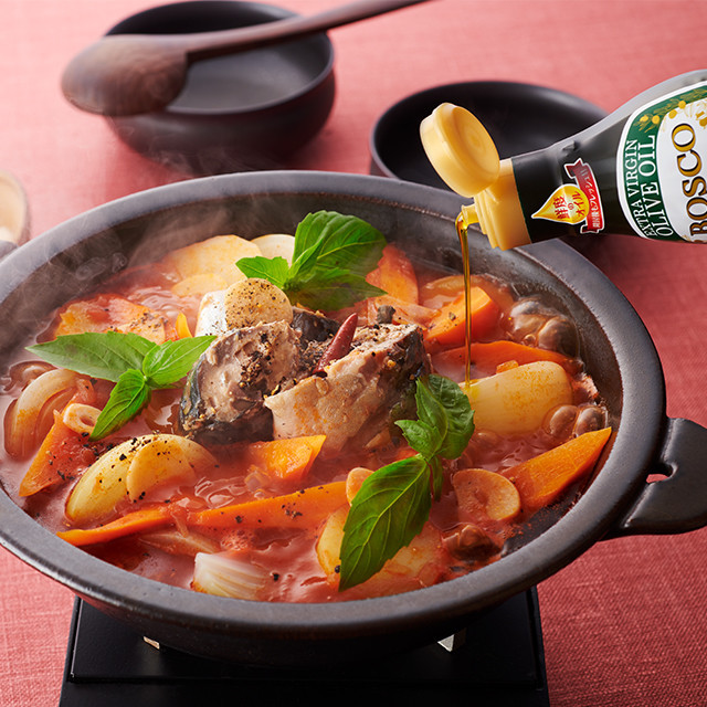 サバ缶トマト鍋
