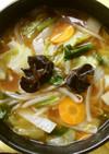 野菜炒めのあんかけラーメン