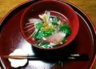 シンプルな基本の味(^q^)真鯛✨の潮汁