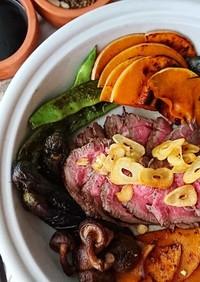 オーストラリア産ランプ肉でローストビーフ