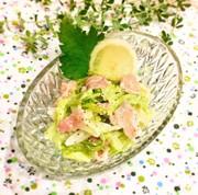 簡単♪温キャベツと生ハムのシーザーサラダの写真