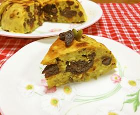 さつま芋とドライフルーツの簡単ケーキ