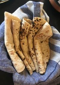 インドの全粒粉パン:チャパティ