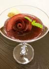 赤ワインゼリー 梨のコンポート