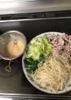 ゆで豚とキャベツのオイスターマヨソース