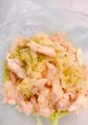 レンチン白菜とササミの棒棒鶏風ごまサラダ
