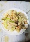 やげん軟骨と野菜の醤油マヨ炒め