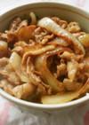 豚バラ・玉ねぎ炒めの焼肉丼(‾▽‾)