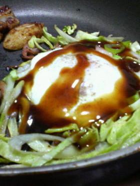 キャベツと卵のお好み風