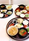 栗ご飯と蟹味噌汁 朝ごはん