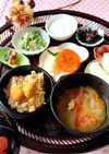 栗ご飯 蟹味噌汁 糖質制限 朝食