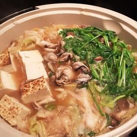 *体ポカポカ!牡蠣の生姜鍋*