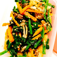 鯖缶で☆キノコと青菜の和え物
