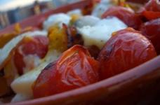 南瓜とトマトのモッツァレラチーズ焼き