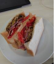 3分具沢山サンドイッチの写真