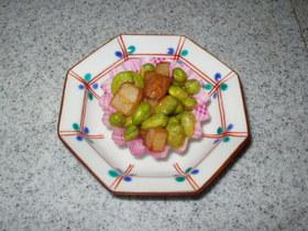 枝豆とさつま揚げのコロコロ炒め~お弁当に