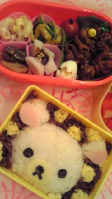 お弁当に☆コリラックマご飯☆(キャラ弁)
