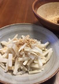 節約☆大根の皮と針生姜の塩炒め