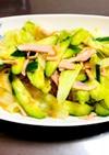 レタスときゅうりの中華風サラダ