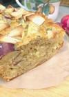 リンゴとサツマイモと紅茶のパウンドケーキ