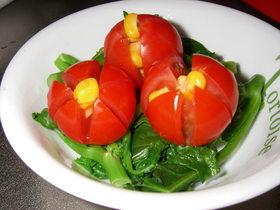 プチトマトでお花✿