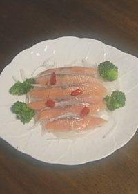 塩鮭の酢漬け