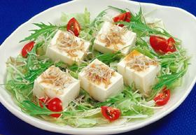 豆腐とじゃこのぽん酢サラダ