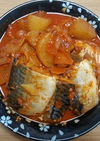 [韓国料理] 鯖の煮付け