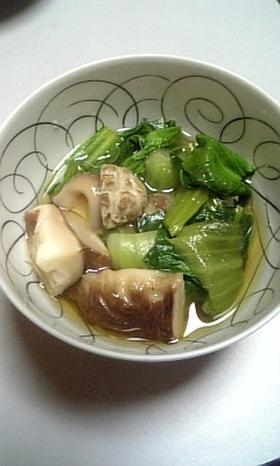 青梗菜としいたけの含め煮