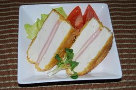 豆腐のサンドイッチ揚げ