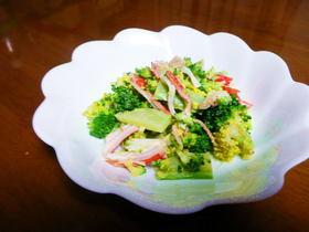 ブロッコリーとカニカマのサラダ