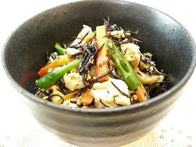 ひじき入り!栄養満点♬炒り豆腐♡