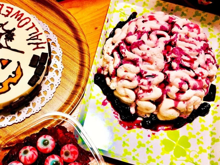 ハロウィンに脳みそケーキ