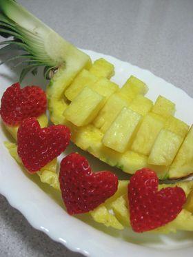意外に簡単☆パイナップルの飾り切り♪