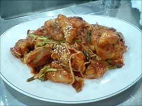 本場の韓国料理アグィチム(アンコウ蒸し)