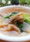 あっさり和風おかず系豚バラと大根のスープ
