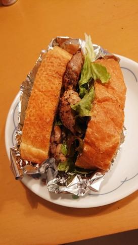 チキンとレタスの簡単サンド